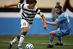 11 December 2011: UNCC's Giuseppe Gentile (11) and North Carolina's Drew McKinney (23). The University of North Carolina Tar Heels defeated the University of North Carolina Charlotte 49ers 1-0 at Regions Park in Hoover, Alabama in the NCAA Division I Men's Soccer College Cup Final.