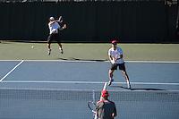 STANFORD, CA - March 27, 2015: The Stanford Cardinal Men's Tennis vs the Utah Utes at Stanford California, California. Final score, Stanford 6, Utah 1.