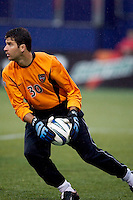 MetroStars' goal keeper Paul Grafer pitched a shutout making four saves as the LA Galaxy lost to the NY/NJ MetroStars 1-0 on 6/21/03 at Giant's Stadium, NJ..