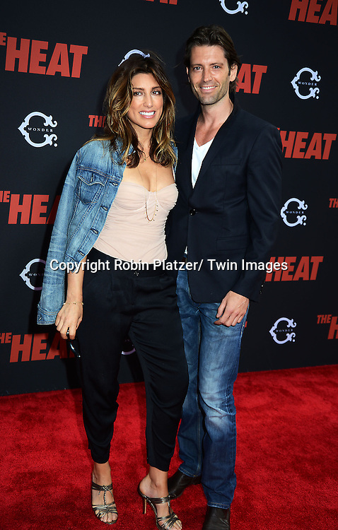 "Jennifer Esposito and Louis Dowler attend the New York Premiere of ""The Heat"" on June 23,2013 at the Ziegfeld Theatre in New York City. The movie stars Sandra Bullock, Melissa McCarthy, Demian Bichir, Marlon Wayans, Joey McIntyre, Jessica Chaffin, Jamie Denbo, Nate Corddry, Steve Bannos, Spoken Reasons and Adam Ray."