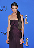 Katie Holmes at the 72nd Annual Golden Globe Awards at the Beverly Hilton Hotel, Beverly Hills.<br /> January 11, 2015  Beverly Hills, CA<br /> Picture: Paul Smith / Featureflash
