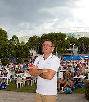 NICOLA ARZANI of the ATP..29/01/2012, 29th January 2012, 29.01.2012 - Day 14..The Australian Open, Melbourne Park, Melbourne,Victoria, Australia.@AMN IMAGES, Frey, Advantage Media Network, 30, Cleveland Street, London, W1T 4JD .Tel - +44 208 947 0100..email - mfrey@advantagemedianet.com..www.amnimages.photoshelter.com.