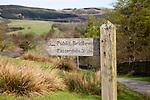 Public bridleway signpost, Sandwick, Lake District national park, Cumbria, England, UK