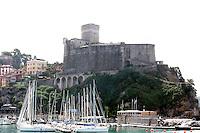 Una veduta del porto di Lerici, col Castello sullo sfondo.<br /> A view of the harbor of Lerici, with the Castle in background.<br /> UPDATE IMAGES PRESS/Riccardo De Luca