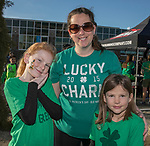 10-year old Abby, Jen and 8-year old Natalie during the 5th annual Leprechaun Run in Reno on Sunday, March 12, 2017.
