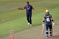 Ravi Bopara of Essex celebrates taking the wicket of Nick Selman during Glamorgan vs Essex Eagles, Vitality Blast T20 Cricket at the Sophia Gardens Cardiff on 7th August 2018
