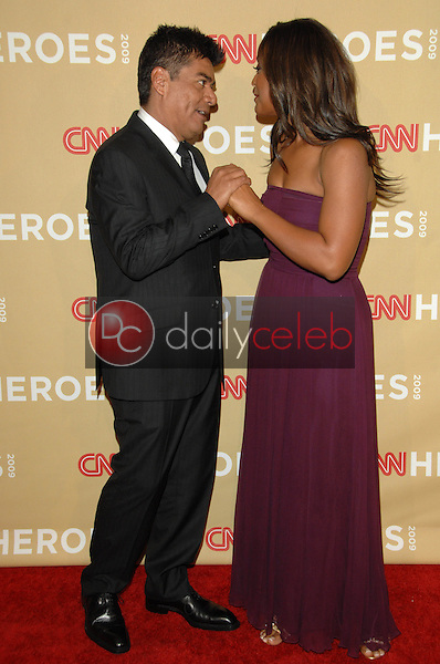 """George Lopez and Laila Ali<br /> at the """"CNN Heroes: An All-Star Tribute,"""" Kodak Theater, Hollywood, CA. 11-21-09<br /> David Edwards/DailyCeleb.Com 818-249-4998"""