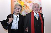 Baronne Beatrice de ROTHSCHILD, Pierre ROSENBERG - VERNISSAGE FIAC PARIS 18/10/2017 - FRANCE
