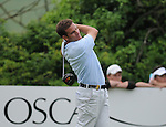 Alvaro Velasco tees off the 4th. Celtic Manor Wales Open 2008 © IJC Photography 2008, iancook@ijcphotography.co.uk..