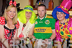 Fancy that: Maria and Hanahmaria Broderick (Mountcollins), Mike Moriarty (Castleisland) and Tracey Moore (Newcastlewest) pictured at a fancy dress party held in Tommy Mick's Bar Mountcollins last Sunday night.