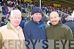 Listowel friends Joe McCarthy, DJ Murphy and Jim Sheehy pictured at the National Coursing Meeting in Clonmel on Wednesday.