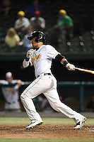 South Bend Silver Hawks designated hitter Joe Munoz (13) at bat during a game against the Dayton Dragons on August 20, 2014 at Four Winds Field in South Bend, Indiana.  Dayton defeated South Bend 5-3.  (Mike Janes/Four Seam Images)