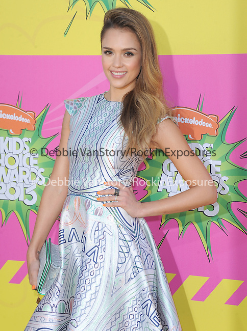 Jessica Alba at The Nickelodeon's Kids' Choice Awards 2013 held at The Galen Center in Los Angeles, California on March 23,2013                                                                   Copyright 2013 Hollywood Press Agency