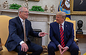 U.S. President Donald Trump and First Lady Melania Trump welcome Australian Prime Minister Scott Morrison and Mrs. Morrison to the White House in Washington for an official visit on September 20, 2019. <br /> Credit: Tasos Katopodis / Pool via CNP