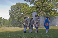 Continental Army reenactors, Monmouth Battlefield State Park, New Jersey