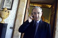 Roma 14 Luglio 2012.Vittorio Sgarbi presenta il suo Partito della Rivoluzione, laboratorio Sgarbi..Nella foto l'avvocato Carlo Taormina partecipa alla presentazione