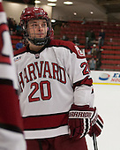 Ryan McGregor (Harvard - 20) - The Class of 2013 was celebrated following the final Harvard Crimson home game of the season on Saturday, March 2, 2013, at Bright Hockey Center in Cambridge, Massachusetts.