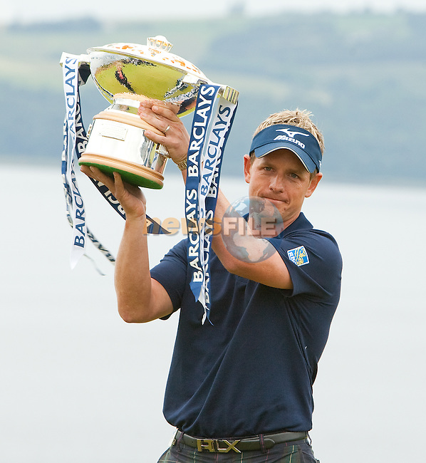 World Number one Luke Donald is the 2011 Barclays Scottish Open Champion with a score if 19 under par. The vent was played over the links at Castle Stuart, Inverness, Scotland from 7th to 10th July 2011:  Picture Stuart Adams /www.golffile.ie 10th July 2011