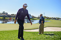 Ian Poulter (ENG) departs 18 during round 1 of the Arnold Palmer Invitational at Bay Hill Golf Club, Bay Hill, Florida. 3/7/2019.<br />