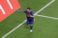 FC Barcelona's Luis Suarez celebrates goal during Spanish King's Cup Final match. April 21,2018. (ALTERPHOTOS/Acero)