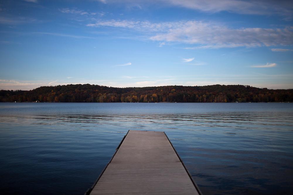 Lake Lemon is seen on Sunday, Oct. 20, 2014, near Bloomington, Indiana. (Photo by James Brosher)