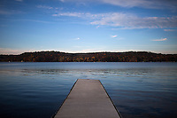 Lake Lemon is seen on Sunday, Oct. 20, 2014, near Bloomington, Indiana. (Photo by James Brosher)