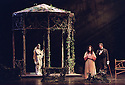 2002 - EUGENE ONEGIN -  Onegin (Lucio Gallo) responds to Tatyana's (Mary Mills) love letter in Opera Pacific's production of Eugene Onegin.