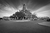Historical Ellis County Courthouse and city square in Waxahachie, Texas.