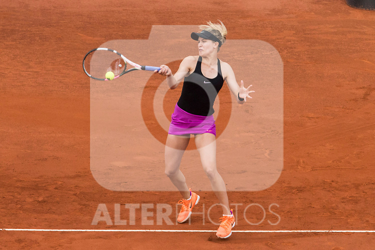 Eugenie Bouchard during  Mutua Madrid Open Tennis 2017 at Caja Magica in Madrid, May 08, 2017. Spain.
