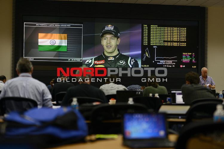 Sebastian Vettel (GER), Red Bull Racing  25.-28.10.2012, Jaypee-Circuit, Noida, IND, F1, Grosser Preis von Indien, Noida, im Bild<br />  Foto &copy; nph / Mathis