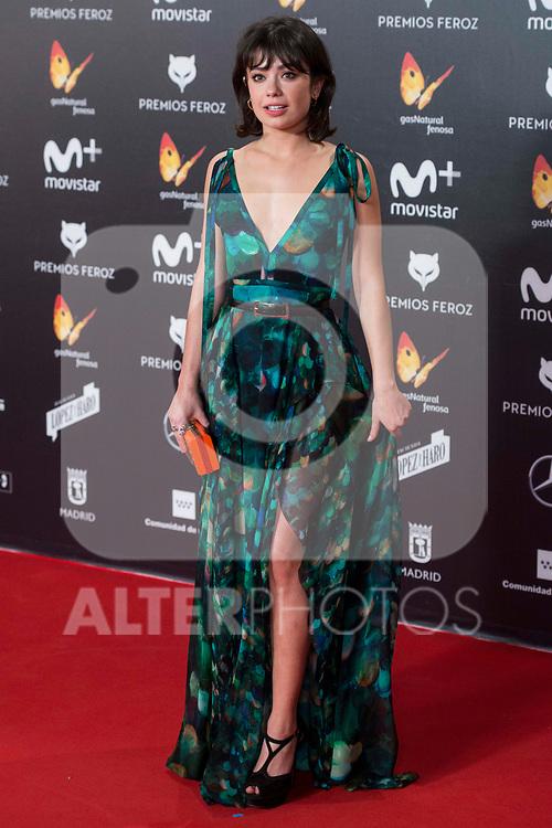 Anna Castillo attends red carpet of Feroz Awards 2018 at Magarinos Complex in Madrid, Spain. January 22, 2018. (ALTERPHOTOS/Borja B.Hojas)