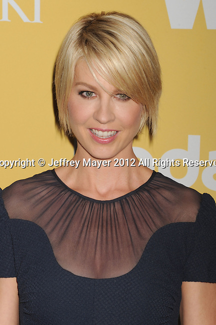 BEVERLY HILLS, CA - JUNE 12: Jenna Elfman arrives at the 2012 Women In Film Crystal + Lucy Awards at The Beverly Hilton Hotel on June 12, 2012 in Beverly Hills, California.