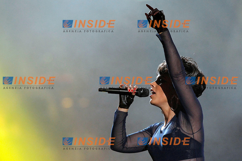 Alicia Keys in concert during the awards gala '40 Principales 2012'..Foto Insidefoto/Alterphotos/Acero .Madrid 24/1/2013 .Italy Only