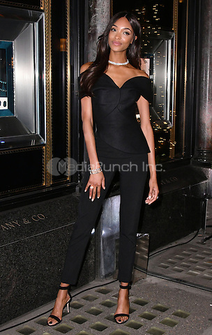 LONDON, ENGLAND - NOVEMBER 07: Jourdan Dunn Tiffany &amp; Co Christmas windows unveiling, Bond Street on November 7th, 2016 in London, England.<br /> CAP/JOR<br /> &copy;JOR/Capital Pictures /MediaPunch ***NORTH AND SOUTH AMERICAS ONLY***