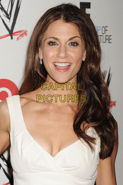 Samantha Harris<br /> WWE &amp; E! Entertainment's &quot;SuperStars For Hope&quot; supporting Make-A-Wish at The Beverly Hills Hotel in Beverly Hills, CA., USA.<br /> August 15th, 2013<br /> headshot portrait white cleavage smiling mouth open<br /> CAP/ROT/TM<br /> &copy;Tony Michaels/Roth Stock/Capital Pictures