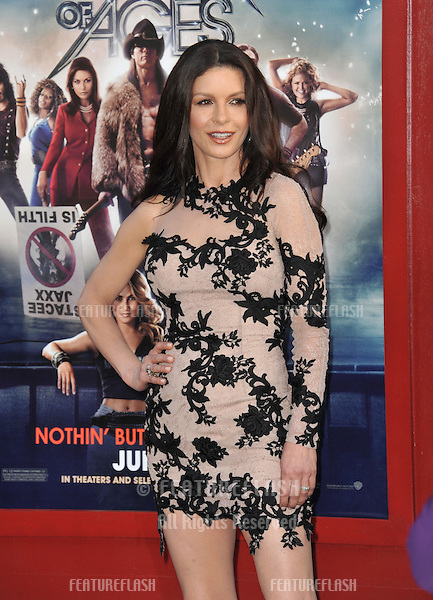 "Catherine Zeta-Jones at the world premiere of her new movie ""Rock of Ages"" at Grauman's Chinese Theatre, Hollywood..June 9, 2012  Los Angeles, CA.Picture: Paul Smith / Featureflash"