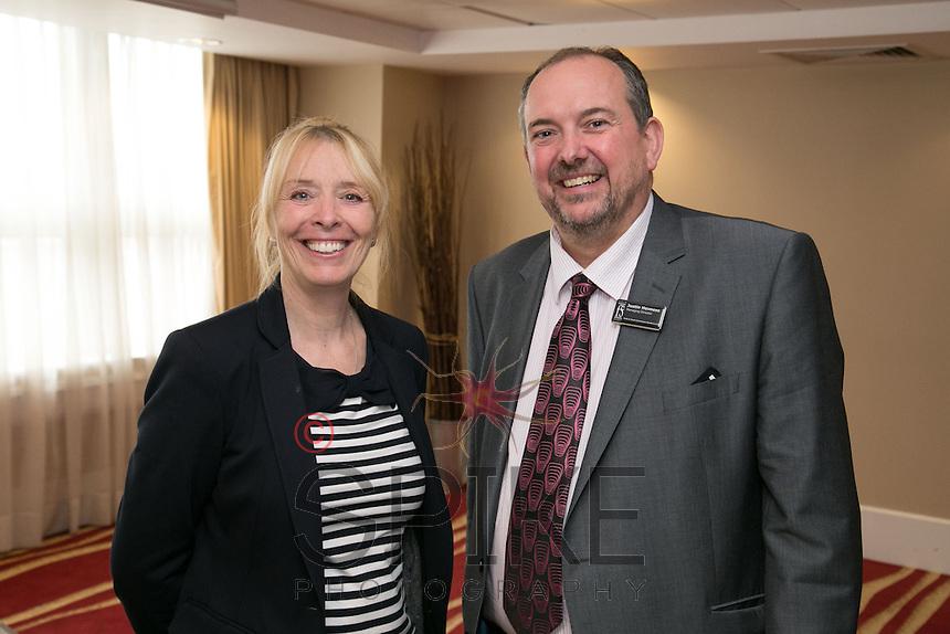 Caroline Kew from the Cystic Fibrosis Trustand Justin Hevness, MD of Firth & Scott Insurance Brokers