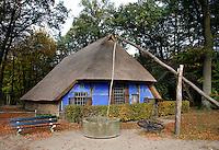 Blauwe  boerderij in het Openluchtmuseum in Arnhem.( Toestemming gekregen van het Museum voor redactioneel gebruik van de foto)