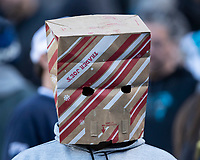 CHARLOTTE, NC - DECEMBER 15: Carolina Panthers fan during a game between Seattle Seahawks and Carolina Panthers at Bank of America Stadium on December 15, 2019 in Charlotte, North Carolina.