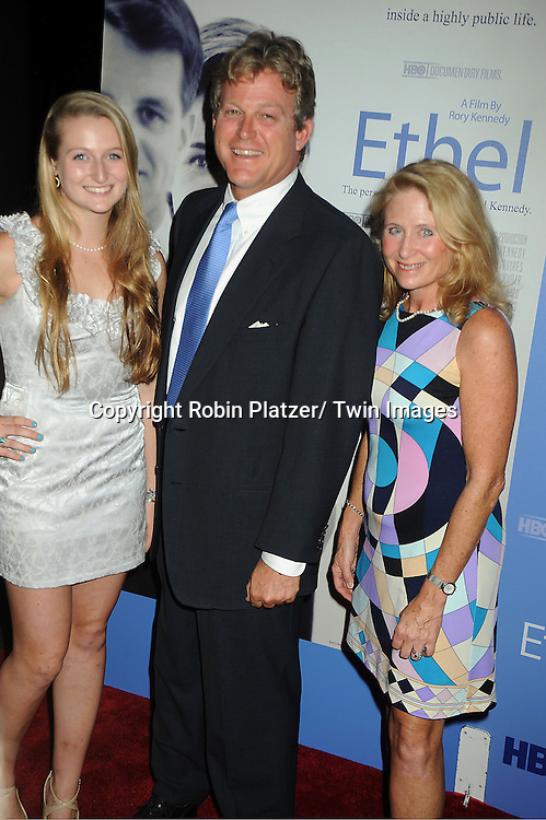 Ted Kennedy, Jr and daughter Kiley and wife Kiki attends the New York Premiere of