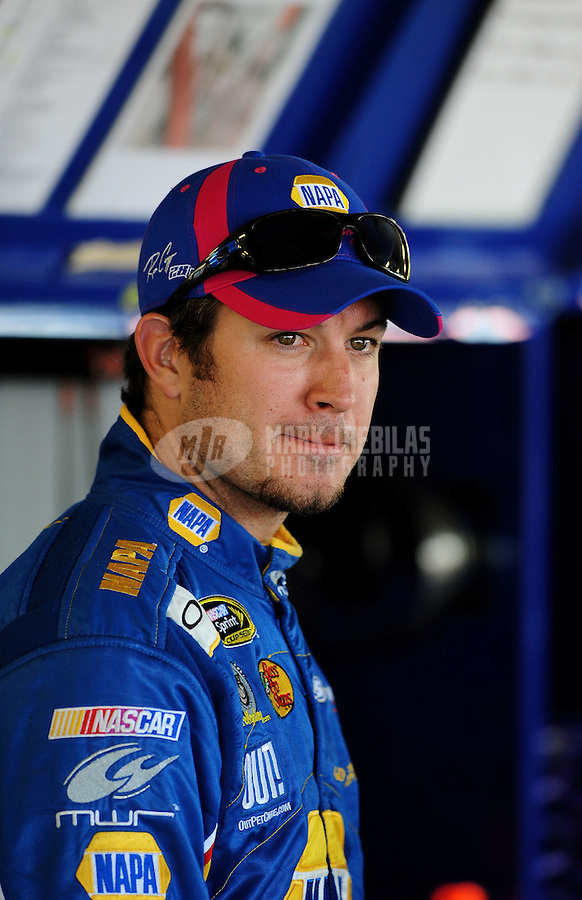 Oct. 1, 2010; Kansas City, KS, USA; NASCAR Sprint Cup Series driver Martin Truex Jr during qualifying for the Price Chopper 400 at Kansas Speedway. Mandatory Credit: Mark J. Rebilas-