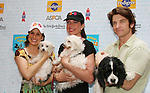 "9 to 5 cast - Marc Kudisch, Stephanie Block, Allison Janney, Andy Karl at Broadway Barks 11 - a ""Pawpular"" star-studded dog and cat adopt-a-thon on July 11, 2009 in Shubert Alley, New York City, NY. (Photo by Sue Coflin/Max Photos)"