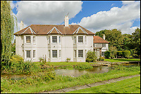 BNPS.co.uk (01202 558833)Pic: Savills/BNPS<br /> A river runs through it...Lazy anglers could even fish for trout from their bedroom balcony.<br /> <br /> Nature lovers will want to get their hands on this striking home with a picturesque chalk stream running through its grounds - on the market for &pound;3.5million.<br /> <br /> The Mill House in the village of Tewin, Herts, sits on the bank of the River Mimram which attracts an abundance of wildlife.<br /> <br /> The new owners can watch the birds, fish, foxes and deer from the comfort of the house and ten acres of gardens.<br /> <br /> The site, which dates back to the Domesday Book, has had several mills on the plot over the years and still has some original features from the mill.
