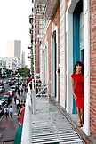 USA, California, San Diego, restaurant owner Ingrid Croce outside of her restaurant Croce's in the Gaslamp District