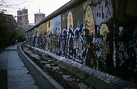 'Walk on the quiet side' - graffiti, Berlin Wall west zone.10 November 1989