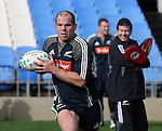 Anton Oliver at All Blacks training. Auckland, Wednesday 22 August 2007.
