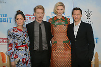 LOS ANGELES, CA - FEBRUARY 03: Rose Byrne, Domhnall Gleeson, Elizabeth Debicki and Will Gluck at the premiere of Columbia Pictures' 'Peter Rabbit' at The Grove on February 3, 2018 in Los Angeles, California. <br /> CAP/MPI/DE<br /> &copy;DE//MPI/Capital Pictures