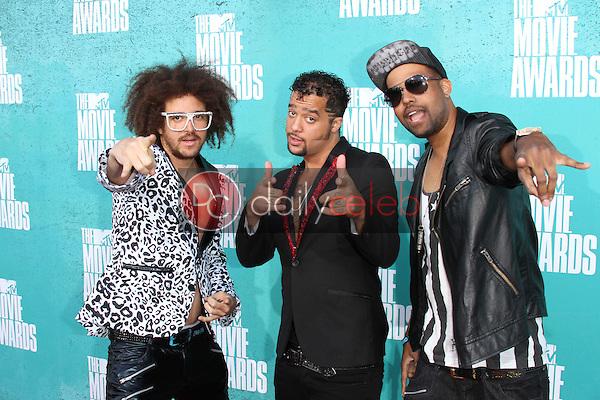 LMFAO<br /> at the 2012 MTV Movie Awards Arrivals, Gibson Amphitheater, Universal City, CA 06-03-12<br /> David Edwards/DailyCeleb.com 818-249-4998