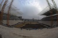 SAO PAULO, SP, 12 JUNHO 2013 - COPA 2014 - SOLENIDADE 1 ANO - Solenidade ?Um ano para o início da Copa do Mundo de 2014? no canteiro de obras da futura Arena Corinthians em Itaquera região leste de São Paulo, besta quarta-feira, 12. (FOTO: WILLIAM VOLCOV / BRAZIL PHOTO PRESS).