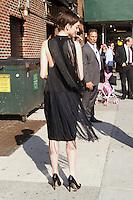 July 11, 2012: Anne Hathaway at Late Show with David Letterman in New York City to discuss her new movie The Dark Knight Rises. &copy; RW/MediaPunch Inc. *NORTEPHOTO*<br /> **SOLO*VENTA*EN*MEXICO**<br /> **CREDITO*OBLIGATORIO** <br /> **No*Venta*A*Terceros**<br /> **No*Sale*So*third**<br /> *** No*Se*Permite Hacer Archivo**<br /> **No*Sale*So*third**
